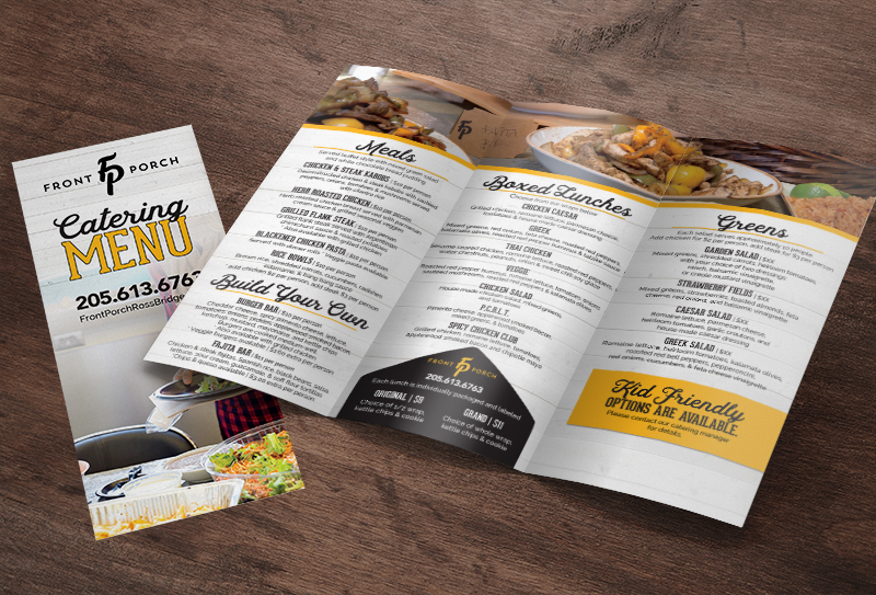 Catering Menu Brochure