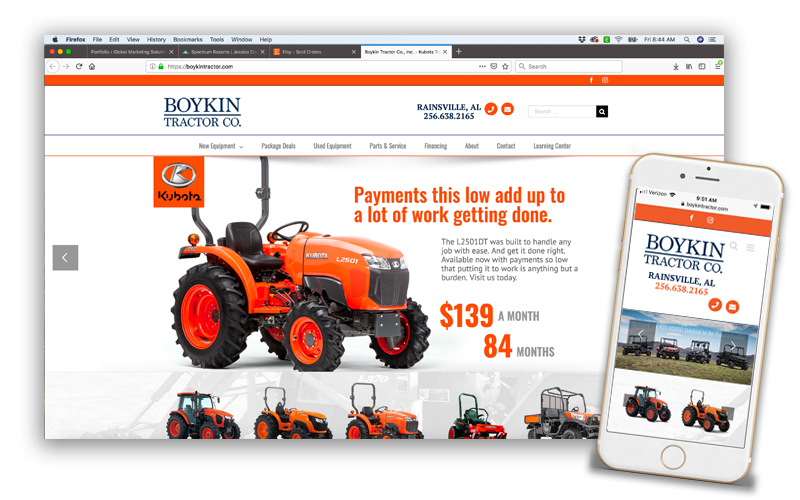 Boykin Tractor Website Design