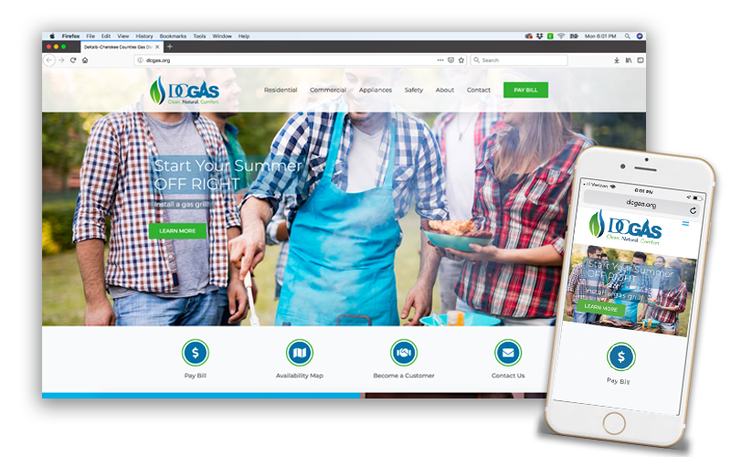 DC Gas Website Design