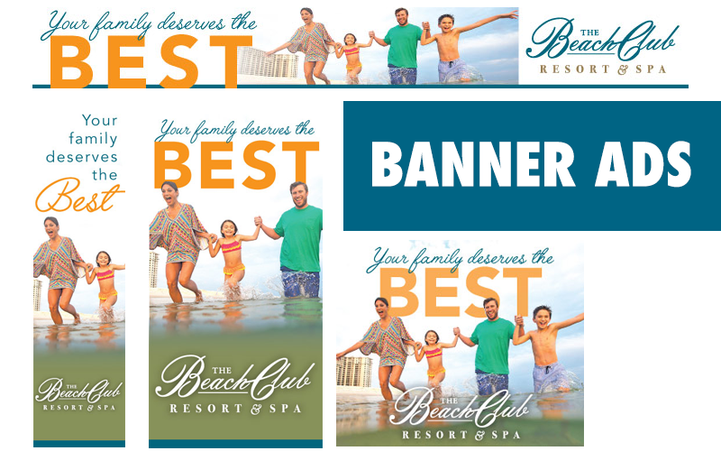 The Beach Club Banner Ads