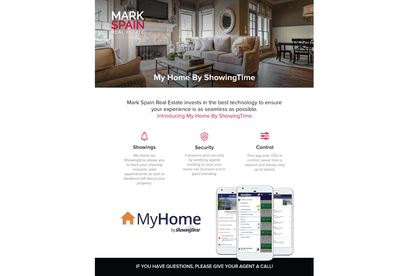 Mark Spain Real Estate Showing Time Flyer