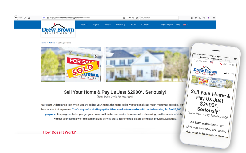 Drew Brown Realty Group website
