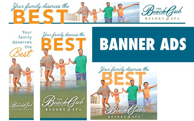 The Beach Club Banner Ads
